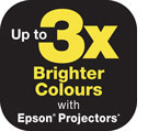 3x Brighter Colours with Epson Projectors