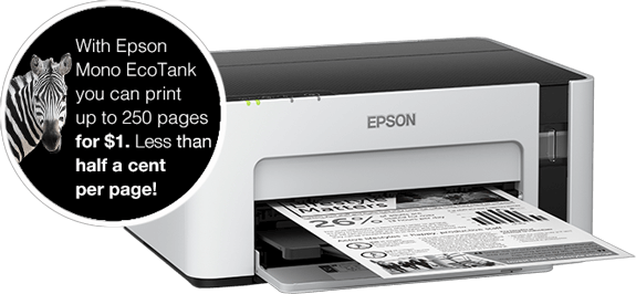 Epson EcoTank Mono - Benefits of EcoTank Mono