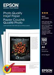 A4 Photo Quality Inkjet Paper - 100 Sheets (102gsm)