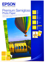 Epson Photo Paper 250gsm Premium Semigloss A4 Sheets (20pcs)