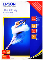 A4 Ultra Glossy Photo Paper - 15 Sheets (300gsm)
