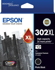 302XL - High Capacity Claria Premium - Photo Black Ink Cartridge