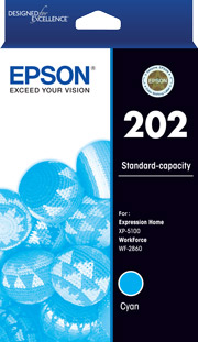 202 - Standard Capacity - Cyan Ink Cartridge
