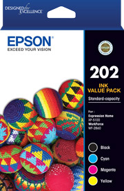 202 - Standard Capacity 4 Colour Ink Pack