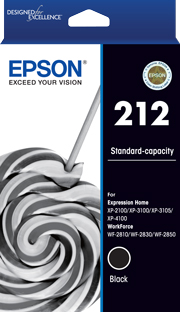 212 - Std Capacity - Black Ink Cartridge