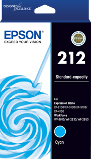 212 - Std Capacity - Cyan Ink Cartridge