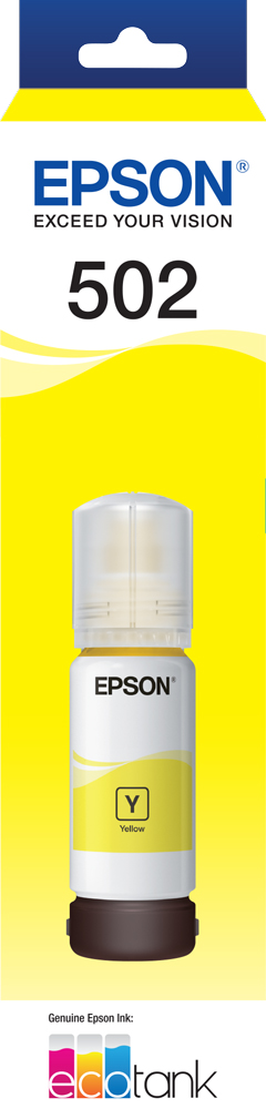 T502 - EcoTank - Yellow Ink Bottle