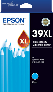 39XL - High Capacity - Cyan Ink Cartridge