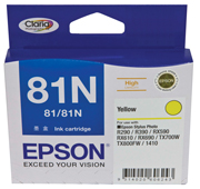 81N - High Capacity Claria - Yellow Ink Cartridge