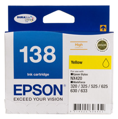 138 - High Capacity DURABrite Ultra - Yellow Ink Cartridge