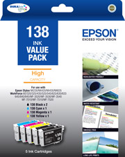 138 - High Capacity DURABrite Ultra - 5 x Ink Cartridge Value Pack