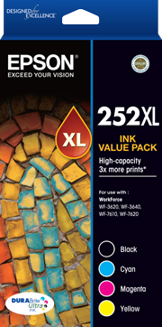 252XL - High Capacity DURABrite Ultra - Ink Cartridge Value Pack
