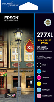 277XL - High Capacity Claria Photo HD - Ink Cartridge Value Pack
