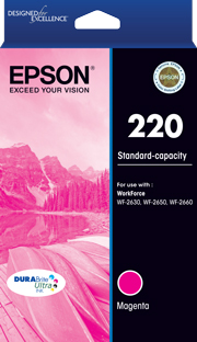 220 - Std Capacity DURABrite Ultra - Magenta Ink Cartridge