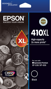 410XL - High Capacity Claria Premium - Black Ink Cartridge