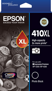 410XL - High Capacity Claria Premium - Photo Black Ink Cartridge