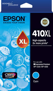 410XL - High Capacity Claria Premium - Cyan Ink Cartridge