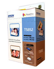 T5852 - PictureMate PicturePack (4-colour cartridge + 150 Sheets of Photo Paper)