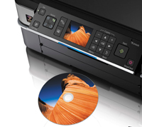 Print direct to CD and DVD surfaces