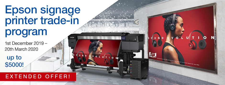Keep Your Cool Epson Signage Trade-in Program