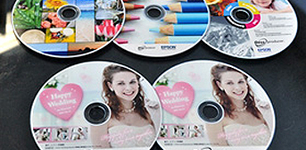 DVDs printed by Epson Discproducer