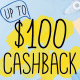 Harvey Norman up to $100 Cashback Promomotion