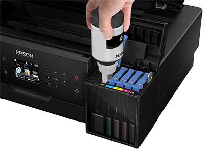 Epson EcoTank refilling high-capacity ink tank system